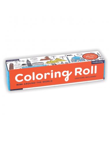 Rollo para colorear Alrededor del mundo