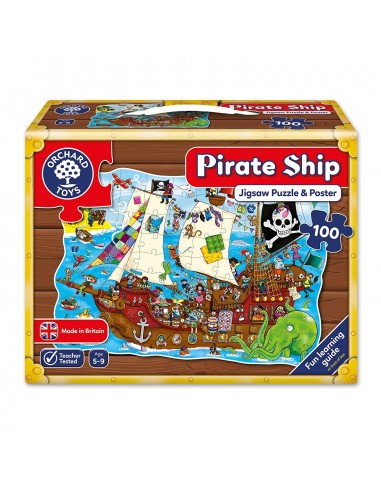 Puzle Barco pirata, de 100 piezas