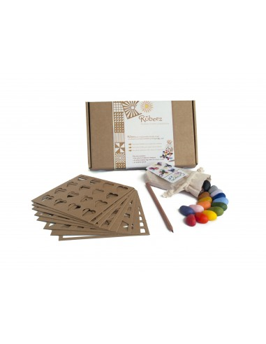 16 colores + 8 plantillas en caja Rubeez