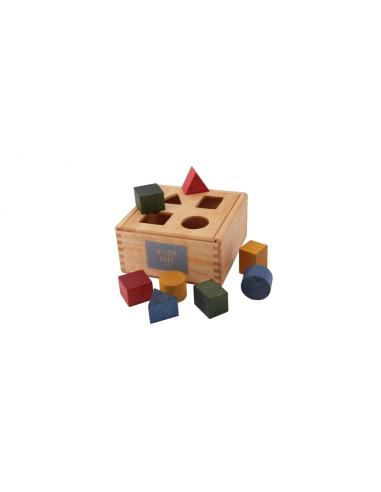 Caja de piezas arcoíris encajables de...