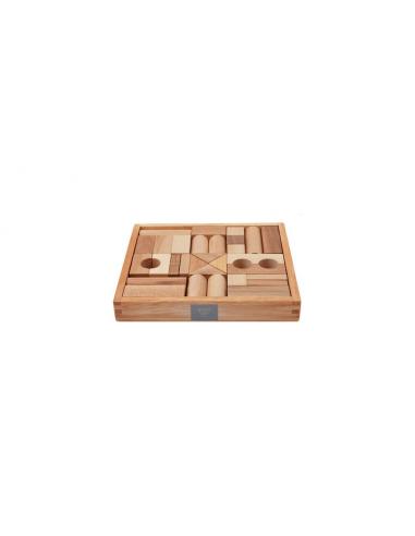 Set de 30 bloques de madera naturales...