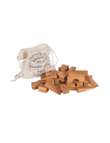 Set de 50 bloques de madera XL...