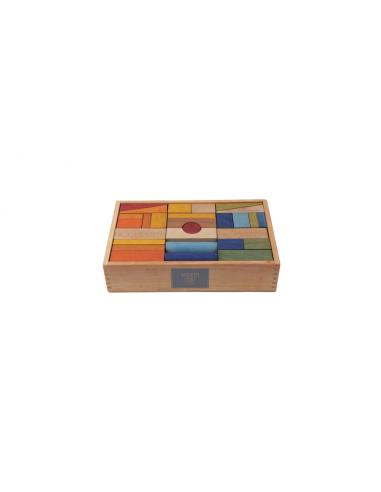 Set de 63 bloques de madera XL...