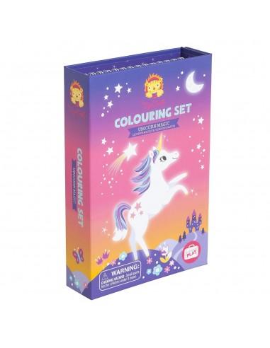 Set de colorear Unicornio mágico