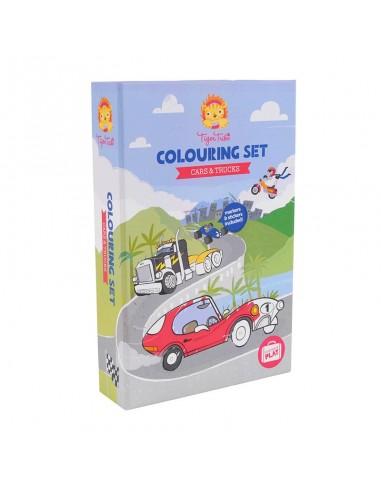 Set de colorear Coches y camiones