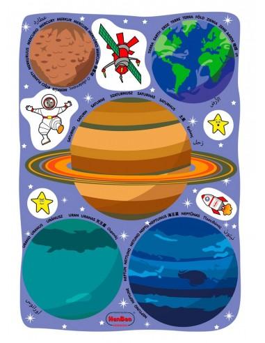 Plantillas translúcidas de los planetas