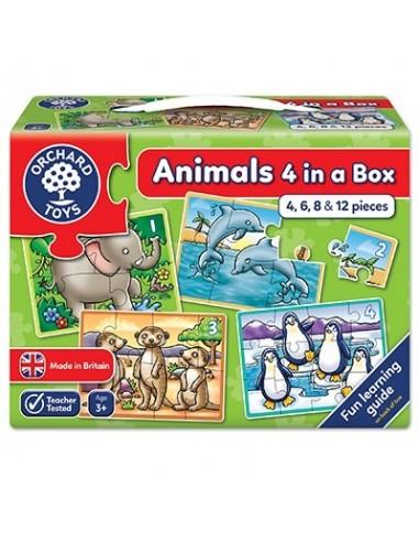 Puzle progresivo Animales 4 en caja,...