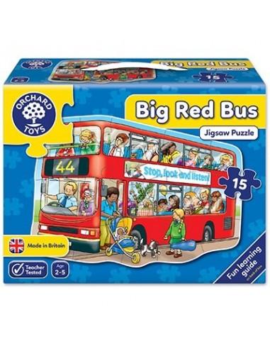 Puzle Gran autobús rojo, de 15 piezas