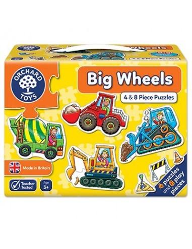 Puzle Vehículos de grandes ruedas, de...