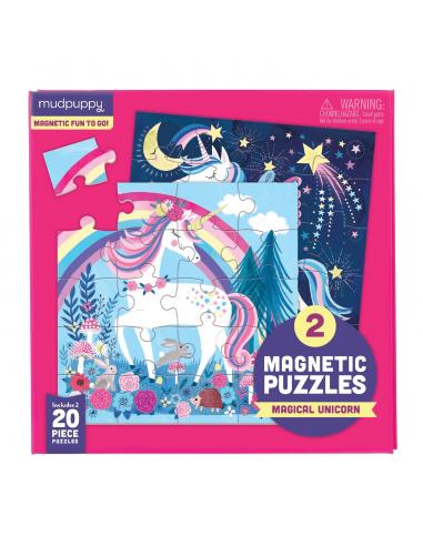 Set de 2 puzles magnéticos Unicornio...