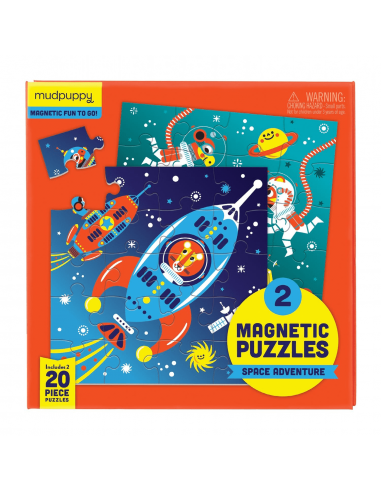 Set de 2 puzles magnéticos Aventura...