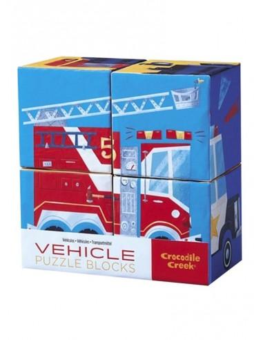 Set de 6 puzles de bloques Vehículos,...