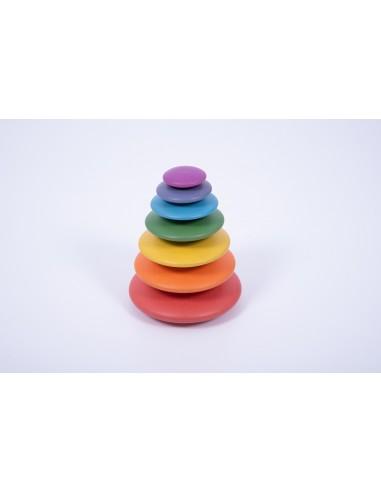 Piedras de madera arcoíris, de 7 tamaños