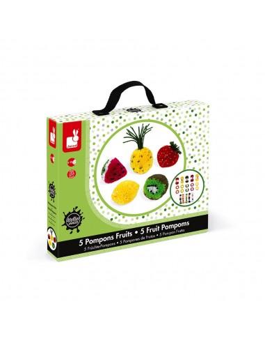Kit para pompones de frutas