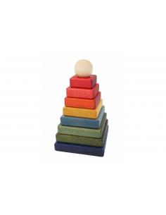Pirámide apilable arcoiris