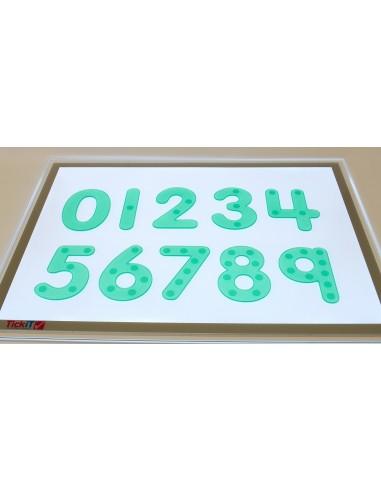 Set de 10 números de silicona verdes...