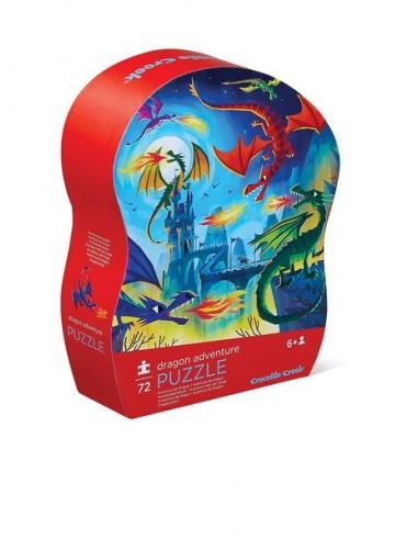 Puzle Aventura de dragones, de 72 piezas