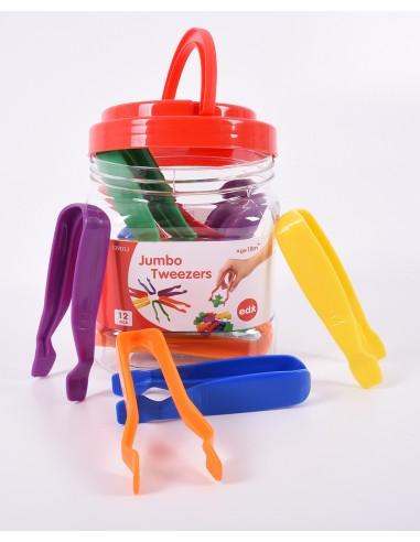 Set de 12 pinzas de plástico de colores