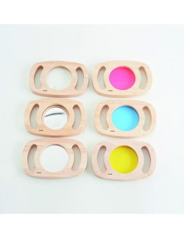 Set de 6 paneles de madera de colores