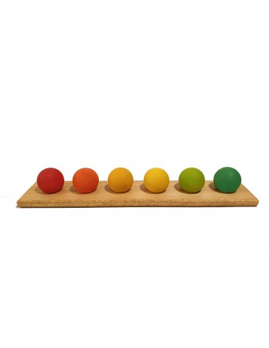 Set de 6 esferas arcoíris de madera...