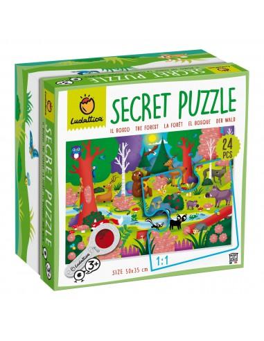 Puzle secreto del bosque, de 24 piezas