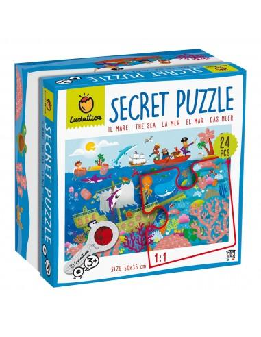 Puzle secreto del mar, de 24 piezas