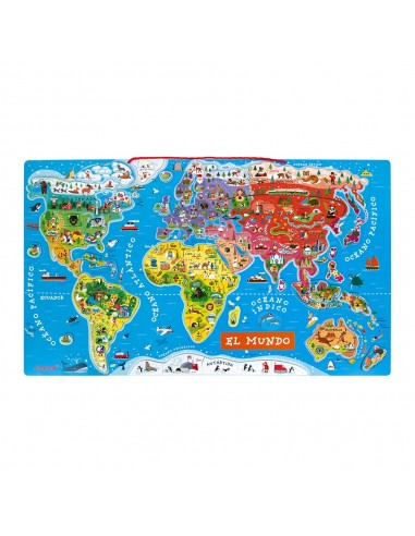 Puzle magnético Atlas mundial, de 92...