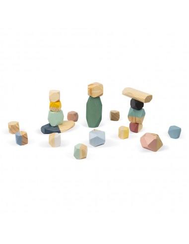 Piedras para apilar de madera