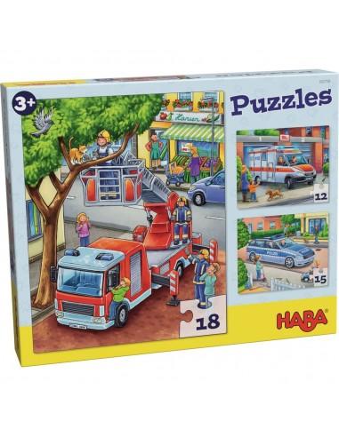 Puzles Policía, bomberos y compañía,...