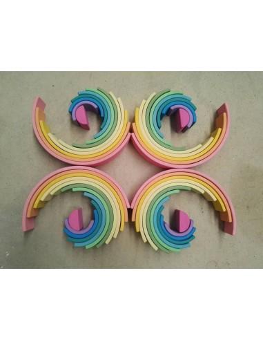 Arcoíris de 12 arcos de madera con...
