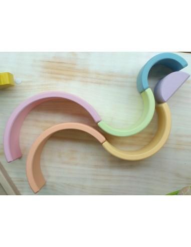 Arcoíris de 6 arcos de madera con...