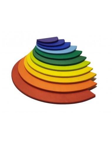 Semicírculos de madera para arcoíris