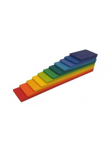 Tablas de madera para arcoíris