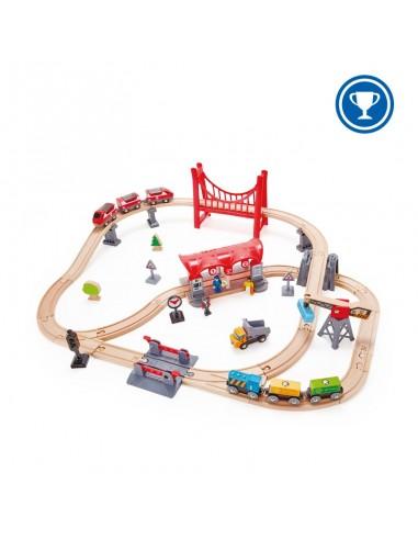 Circuito de ferrocarril Ciudad ajetreada