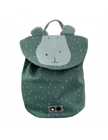 Mini mochila de algodón Mr. Hippo