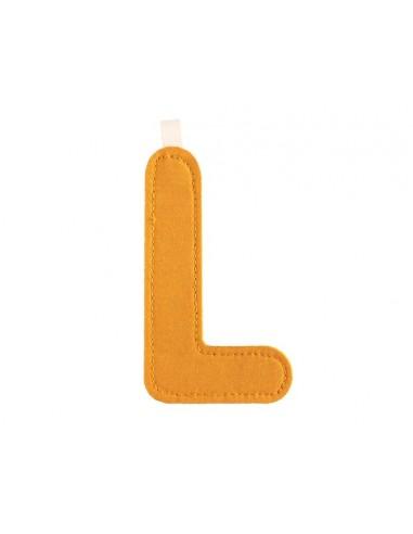 Letra L de tela