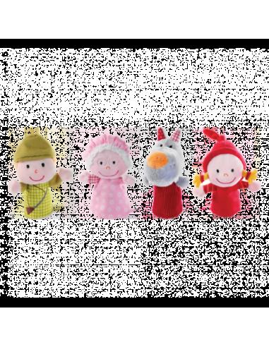 Marionetas de dedo de Caperucita Roja