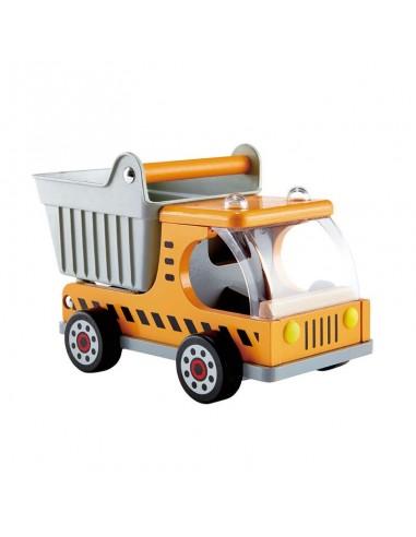 Camión volquete de madera