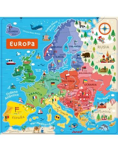 Puzle magnético Europa, de 40 piezas