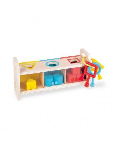 Caja de llaves de madera