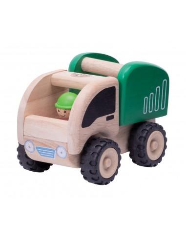 Camión volquete mini de madera