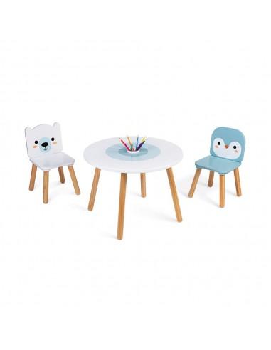 Set de mesa y sillas de madera Hielo...