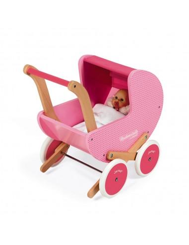 Cochecito de muñecas de madera...