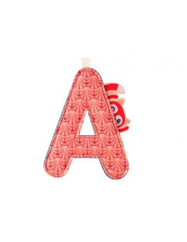 Letra A de tela de la vulpina Alice