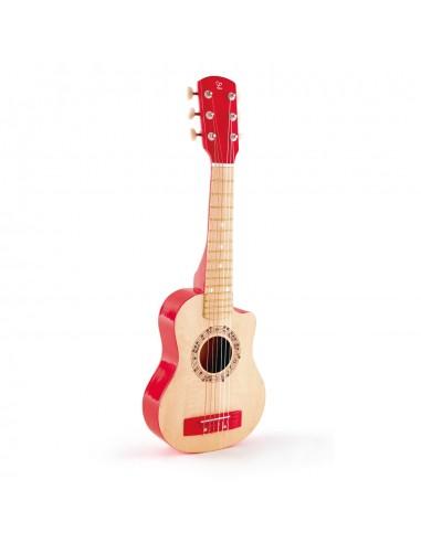 Guitarra clásica de madera roja