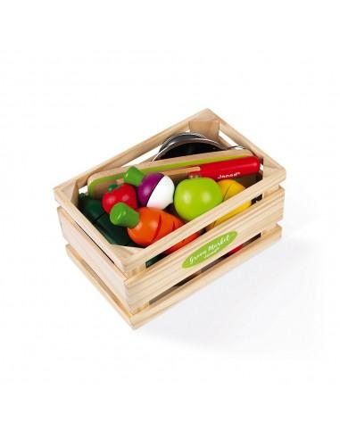 Set de frutas y verduras para cortar