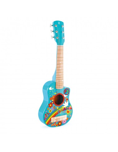 Guitarra de madera hippie