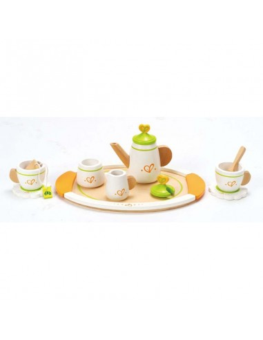 Juego de té de madera para dos