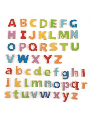 Letras alfabeto de madera magnéticas
