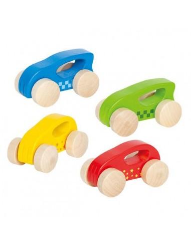 Mini coches de madera